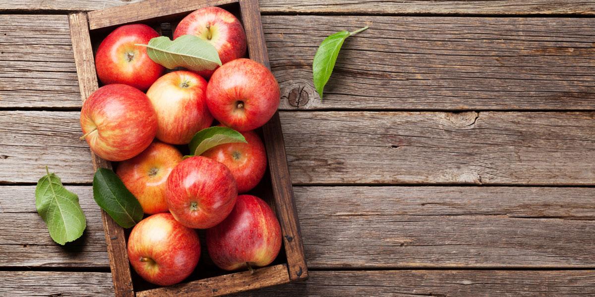 りんごの皮にワックス