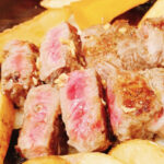 ステーキの焼き方でレアを食べた